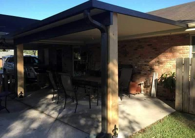 12 x 16 Insulated Patio Cover, 8 x 8 Cypress Columns