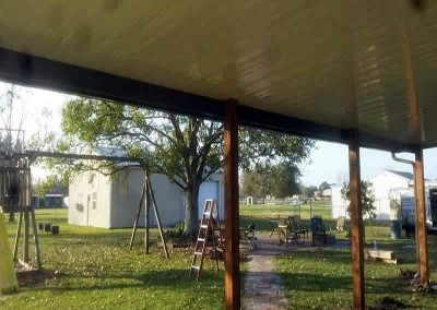 12 x 37 Aluminum Patio Cover, 6 x 6 Cypress Columns I