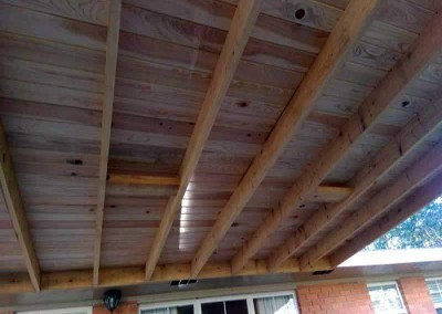 14 x 16 Cypress Patio Cover, 1 x 8 V-Groove Ceiling