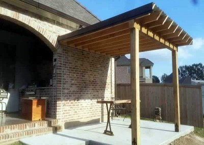 14 x 16 Cypress Patio Cover • 1 x 8 V-Groove Ceiling