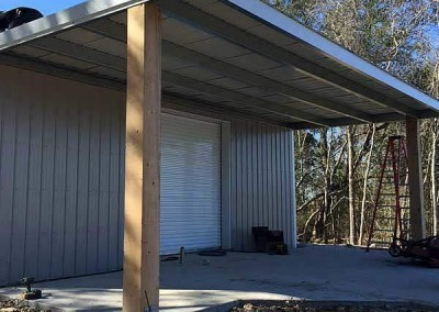 14 X 30 Steel Patio Cover With 10 Cypress Post