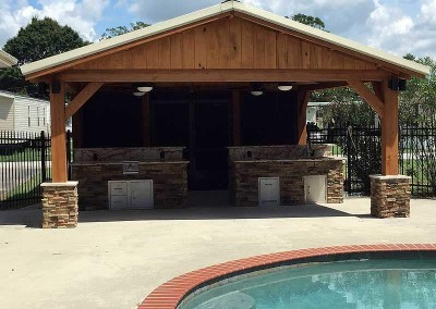 18 x 18 Cypress Pavilion Outdoor Kitchen