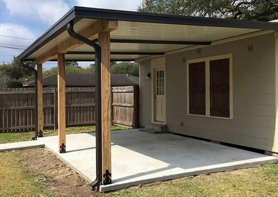 Aluminum Patio Cover, Cypress Post