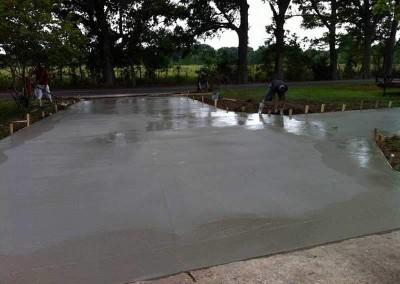 Concrete Driveway Just Poured