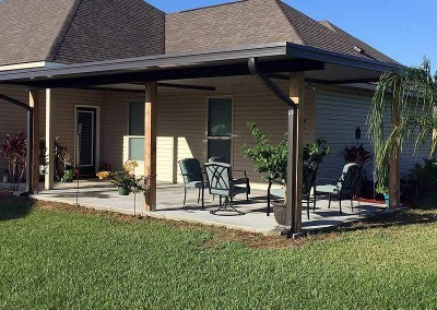 Cypress Column Patio Cover
