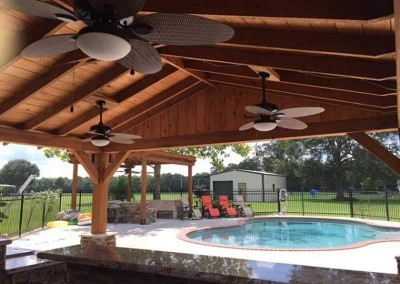 A Cypress Patio Cover by Acadiana Patios