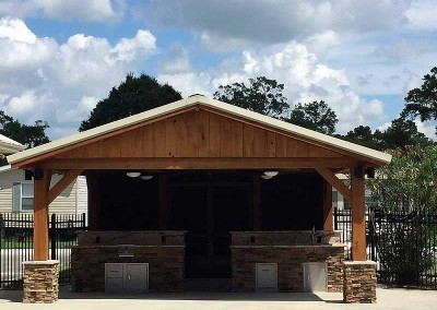 Cypress Pavilion Over an Outdoor Kitchen