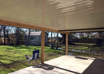 Cypress Post Beam Aluminum Patio Cover