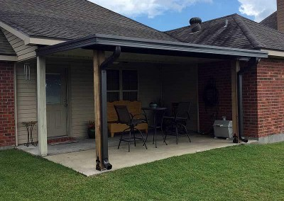 Flat Panel Patio Cover with 6 Cypress Columns