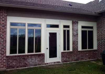 Insulated Wall System, Sliding Glass Windows with Full View Glass Door
