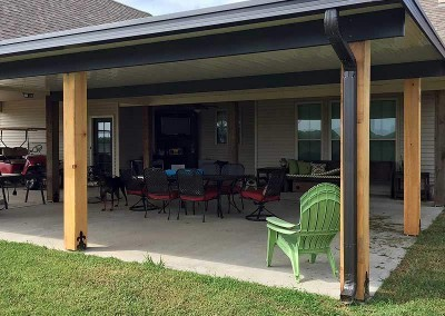 Patio Cover with 8 x 8 Cypress Columns