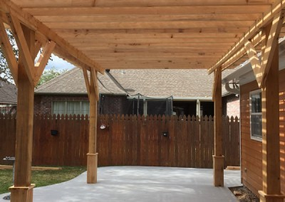 Pergola 16 x 36 Rough Cut Cypress