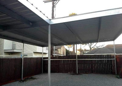 Steel Canopy L-Shaped