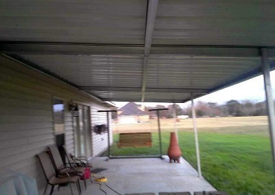 Steel Patio Cover from Underneath